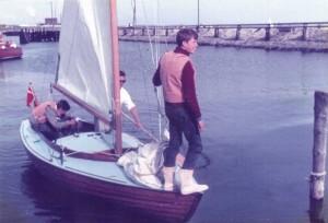 """Vera"" i Thisted juli 1967 - som det ses på gastens smil har vi netop vundet sejladsen"